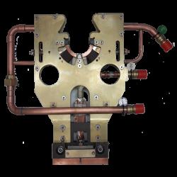 Inductors for hardening crankshaft bearings