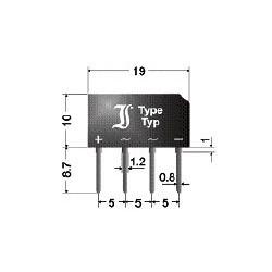 B80C2300-1500B Mostek diodowy