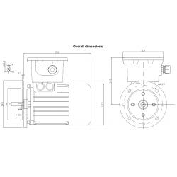 OD063B2F2305P4 Silnik elektryczny EX 3x230/400V 0,25kW