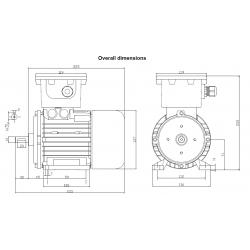 OD071A2H2305P4 Silnik elektryczny EX 3x230/400V 0,37kW