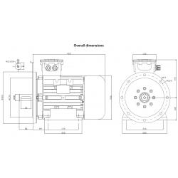 OD132K6X4005P4 Silnik elektryczny EX 3x400/690V 4,0kW B