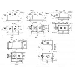 MTC500-12-416F3 Thyristor Module