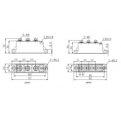 MTC55-12-223F3 Thyristor Module