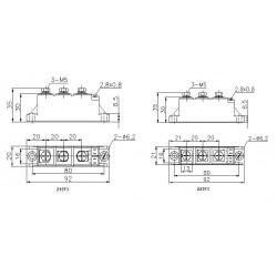 MTC55-14-223F3 Thyristor Module