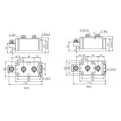 MFC285-16-413F3 Thyristor/Diode Module