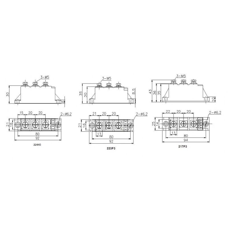 MDC110-12-223F3 Diode Module