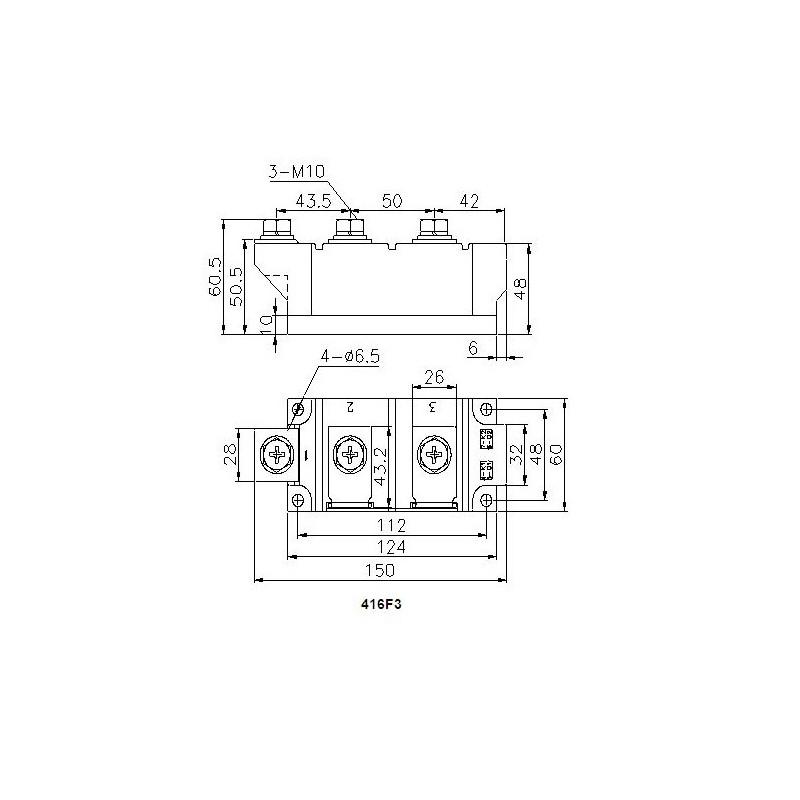 MDC570-14-416F3 Diode Module