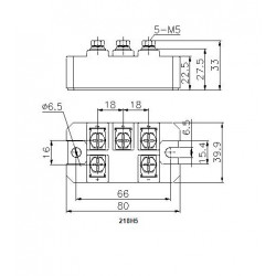 MDS75-12-218H5 Bridge Rectifier