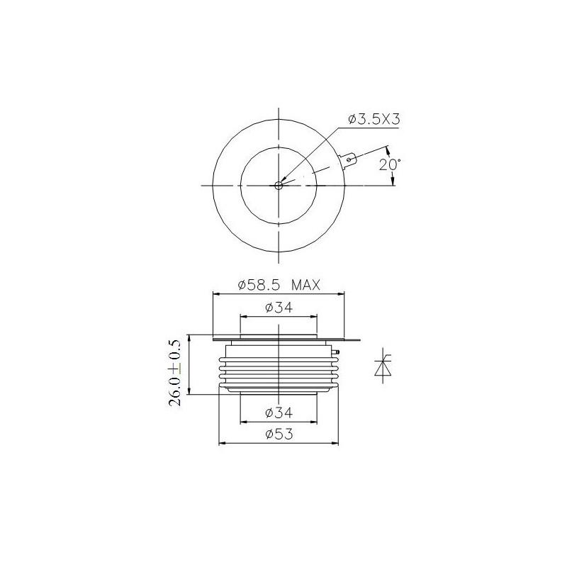 Y38KPE-10-18 Tyrystor PCT