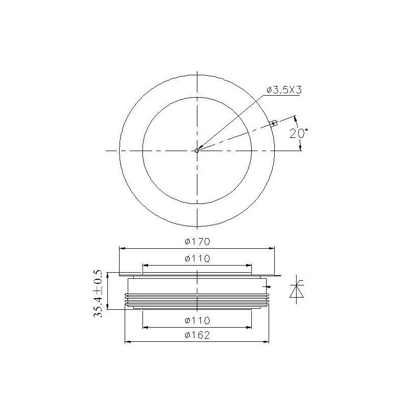 Y50KPJ-12-30 Tyrystor PCT