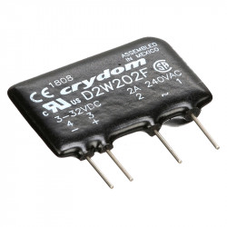 Semiconductor AC relays for PCB in SIP casing