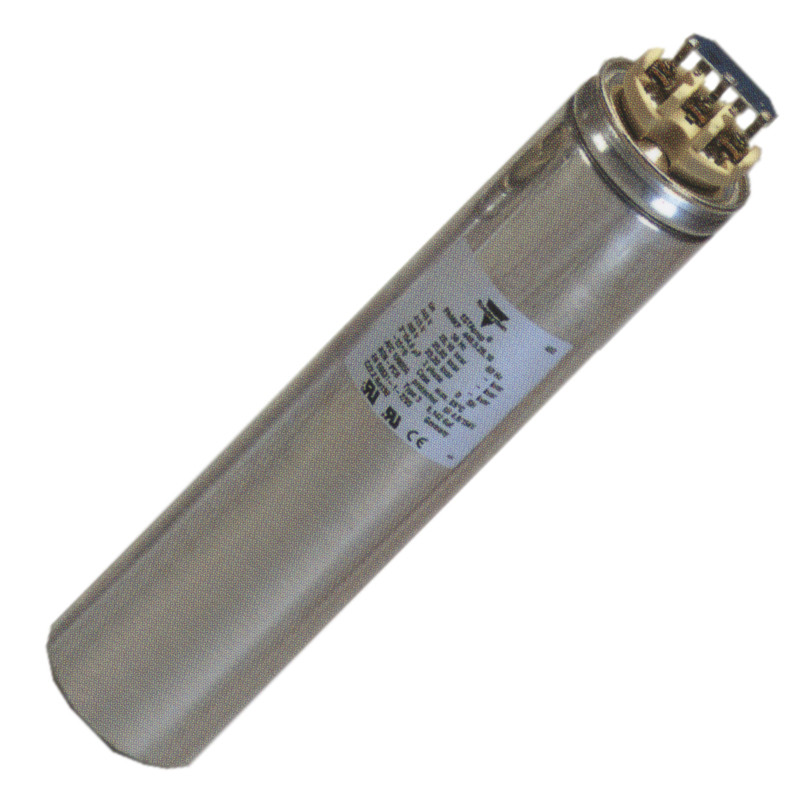 Cylindrical capacitors for power factor correction