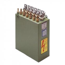 Skysčiu aušinami didelės galios kondensatoriai induktiviniam kaitinimui