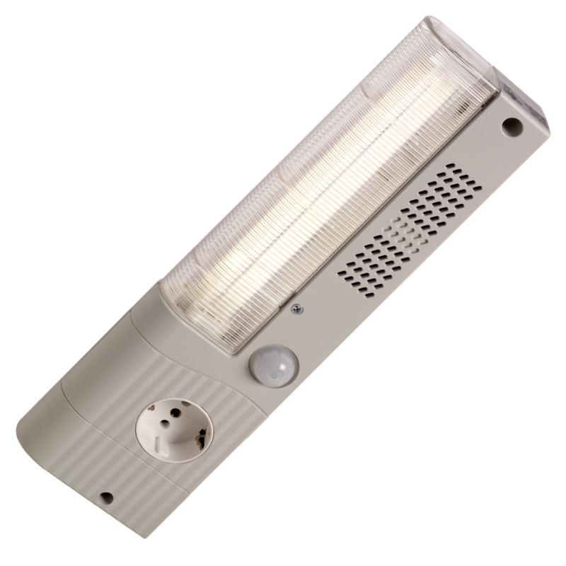 Plokščia lempa su judesio davikliu - Slimline linija - SL025 serija
