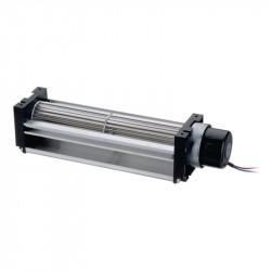 DC ventilators with a transverse air flow