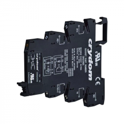Semiconductor AC and DC relays with interface for DIN bus