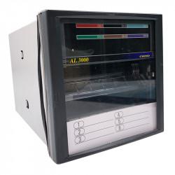 Rejestrator temperatury z zapisem na taśmę i wskaźnikiem