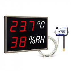 Autonomiczny wyświetlacz LED mierzący temperaturę i wilgotność