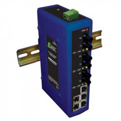 Unmanaged switches - fiber - 8 ports- DIN bus - EIR208 series