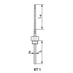 Termoelektrinis arba varžos temperatūros jutiklis kt1 tipo