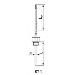 Thermoelectric or resistant temperature sensor. Type kt1