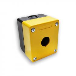 Plastmasės valdymo dėžutės su skylėmis mygtukams