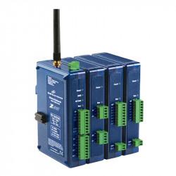 2,4 GHz radijo modulis su analoginiais - skaitmeniniais įėjimais - išėjimais, DIN bėgiams