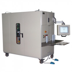 Measuring equipment for voltage measurement of medium voltage surge arresters