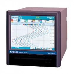 Mikroprocesorowy rejestrator z dotykowym ekranem LCD serii KR2S