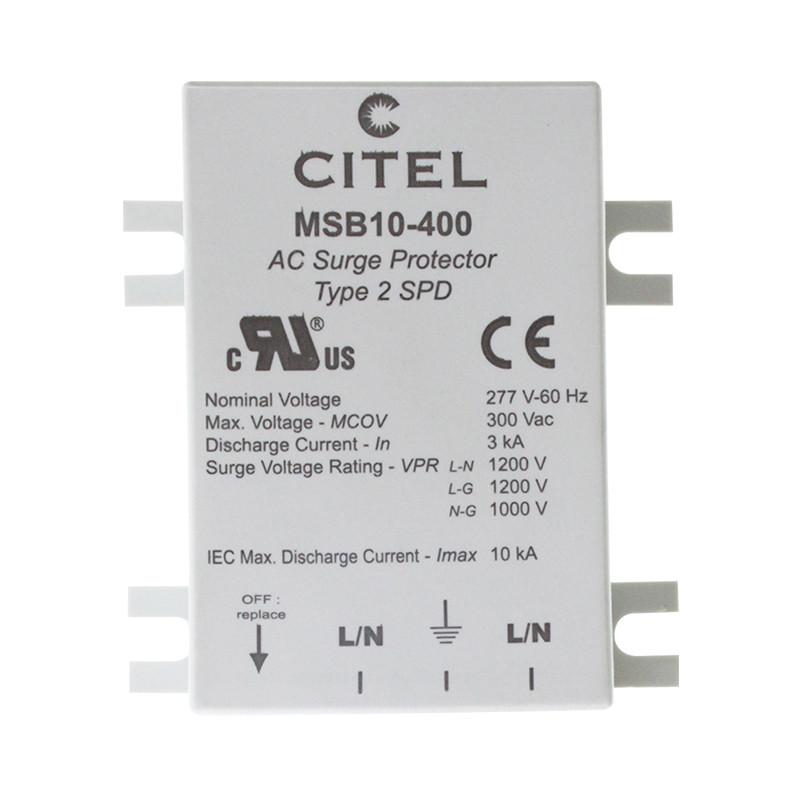 3 (D) MSB6 ir MSB10 viršįtampių apribojimai LED apsaugai pastatuose