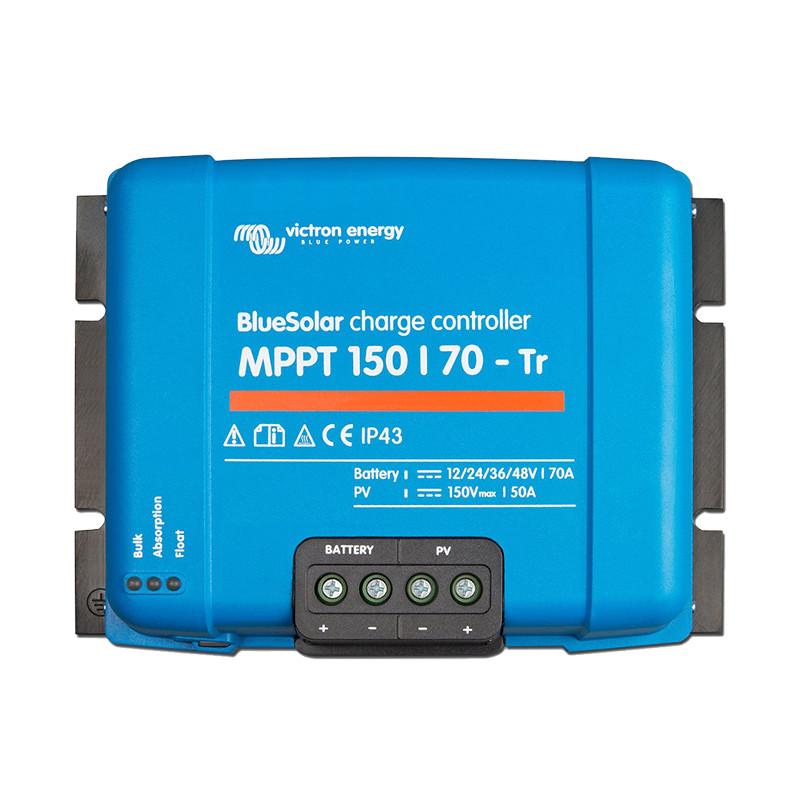 Įkeliami reguliatoriai Mėlyna saulės MPPT 150