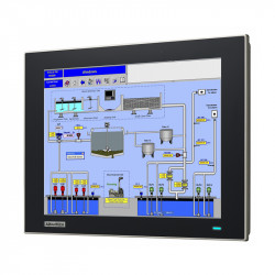 """FPM-7121T - Przemysłowy, płaski monitor 12.1"""" XGA TFT LCD z wejściem VGA oraz DP, IP66"""