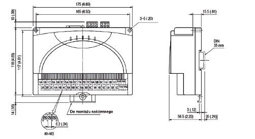 Rejestrator PC, 12 izolowanych wejść – RZMS-U9 wymiary