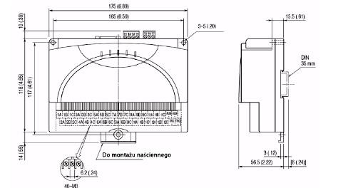 Rejestrator PC, USB, 12 izolowanych wejść – RZUS –U9T/MSR wymiar