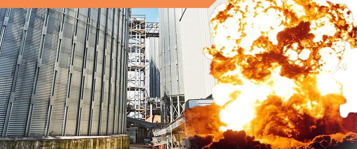 Czynniki wpływające na palność ziarna zbożowego i elementy oceny zagrożenia wybuchem pyłu.